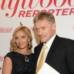 Пресс-волл 5-летие журнала  The Hollywood Reporter Татьяна Навка и Дмитрий Песков 2017