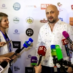 Пресс-волл шоу-программа 50-летие Гоши Куценко Москва 2017