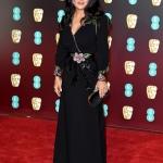 Пресс-волл с красной дорожкой 71-я премия Британской академии кино и телевизионных искусств BAFTA Сальма Хайек Лондон 2018