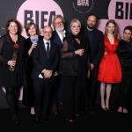 Пресс-волл фотозона вручение премии British Independent Film Awards (BIFA) команда фильма Фаворитка Лондон 2018