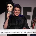Пресс-волл фотозона вручение премии British Independent Film Awards (BIFA) Оливия Колман Лондон 2018