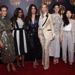 Пресс-волл кинофорум CinemaCon презентация проектов Warner Bros актрисы фильма 8 подруг Оушена Лас-Вегас США 2018