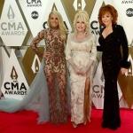 Пресс-волл фотозона премия CMA Awards Кэрри Андервуд Долли Партон Риба Макинтайр США 2019