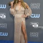 Пресс-волл с синей дорожкой премия Critics' Choice Awards 2018 Хайди Клум Санта-Моника США 2018