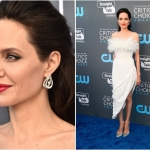 Пресс-волл с синей дорожкой премия Critics' Choice Awards 2018 Анджелина Джоли Санта-Моника США 2018