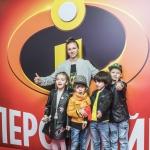 Пресс-волл премьера мультфильма Disney Pixar Суперсемейка 2 Алла-Виктория и Мартин Киркоровы Каро 11 Октябрь Москва 2018