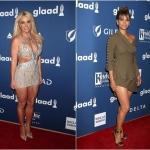 Пресс-волл с красной дорожкой премия GLAAD Media Awards Бритни Спирс Холли Берри Лос-Анджелес США 2018