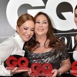 Пресс-волл фотозона церемония премии GQ Super Women Виктория Шелягова Алла Вербер Расида Лакоба Москва 2018