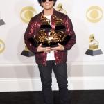 Пресс-волл музыкальная премия года Grammy Awards 2018 Бруно Марс Нью-Йорк США 2018