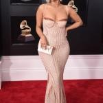 Пресс-волл с красной дорожкой и инкрустацией багета музыкальная премия года Grammy Awards 2018 Биби Рекса Нью-Йорк США 2018
