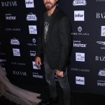 Пресс-волл фотозона вечеринка Harper's Bazaar Icons Джастин Теру Нью-Йорк США 2018
