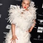 Пресс-волл фотозона вечеринка Harper's Bazaar Icons Кристина Агиллера Нью-Йорк США 2018