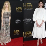 Пресс-волл фотозона церемония вручения Hollywood Film Awards Николь Кидман Энн Хэтэуэй Лос-Анджелес США 2018