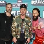 Пресс-волл церемония вручения премии MTV EMAs 2017 30 Seconds to Mars Лондон 2017