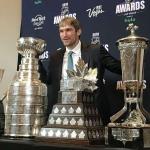 Пресс-волл Фотозона приз NHL Морис Ришар Трофи Александр Овечкин США 2018