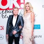 Пресс-волл ежегодная премия «Больше чем звезды» журнала OK! Николай Басков и Виктория Лопырева Москва 2017