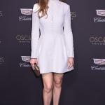 Пресс-волл фотозона вечеринка OSCAR от спонсора Cadillac  Хилари Суэнк Лос-Анджелес  США 2019