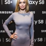 Пресс-волл презентация Samsung S8 Вера Брежнева 2017