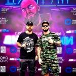 Пресс-волл презентация нового альбома Джиган Дни и Ночи SOHO Rooms Джиган и Артик Москва 2017