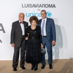 Пресс-волл фотозона благотворительное мероприятие UNICEF Summer Gala Джакомо Гуэрера Джина Лоллобриджида Паоло Розера Италия 2018