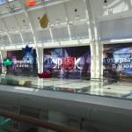 Широкоформатная печать оформление временного фасада фуд корта ресторана УРЮК торгового центра Ривьера пример 0779 2016год