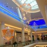 Световое светодиодное оформление к Новому Году Торговый центр Москва 2017