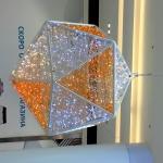 Световое светодиодное оформление металлическая конструкция к Новому Году Торговый центр Москва 2017