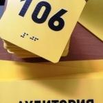 Изготовление тактильных табличек тактильные таблички на кабинеты фасадные вывески для инвалидов РостАрт 2019 12322