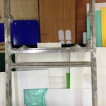 Изготовление металлической стойки для мнемосхемы уф-печать с белилами на пластике мнемосхема с металлической стойкой РостАрт Москва 2018 440