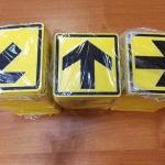 Изготовление тактильных табличек направление движения уф-печать с белилами на пластике РостАрт Москва 2018 4377