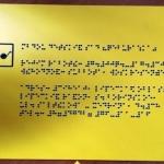Изготовление тактильных табличек тактильные фасадные вывески для инвалидов РостАрт 2019 12143