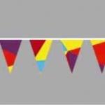Изготовление флажной ленты на заказ полноцветная печать флажков на ткани для праздника РостАрт Москва 2017