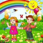 Широкоформатная печать на баннере для детского сада задник РостАрт Москва 2017
