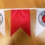 Гирлянды из флажков из ткани печатьо на ткани брендирование BACARDI РостАрт Москва 2018 12093